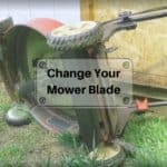 How to turn the bolt to remove a lawnmower blade? (walk and riding)