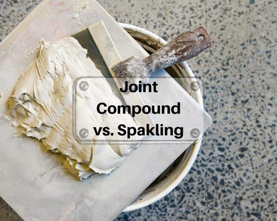 Joint compound vs. Spakling